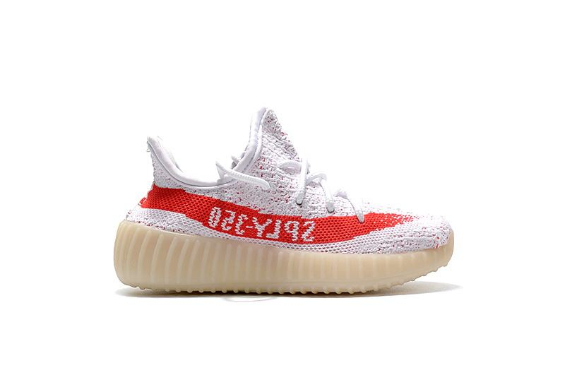 Yeezy Boost 350 V2 Kids White Red